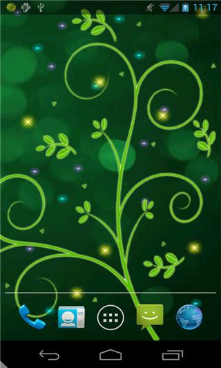炫彩绿色动态壁纸图片