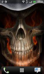 超酷地狱火骷髅动态壁纸截图1